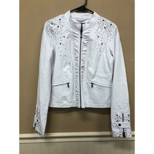 The Buckle BKE Outerwear Faux Leather Bling Jacket